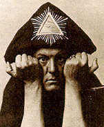 "Aleister Crowley, author of the ""Book of Thoth"""